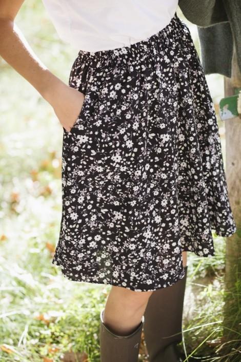 Camiseta básica SusiSweetdress negra manga larga cuello alto