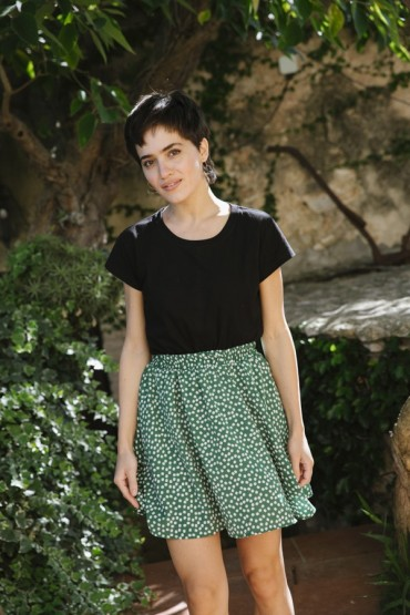 Falda mini verde con...