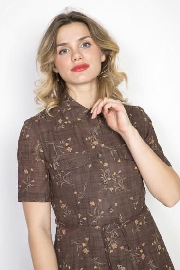 Camiseta SusiSweetdress beis con rayas negras