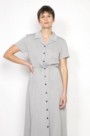 Vestido vintage gris