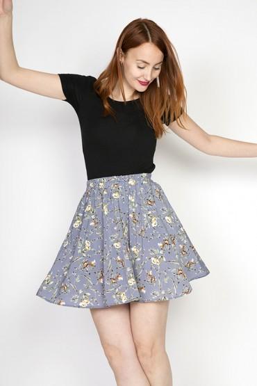 Falda mini azul pastel con...