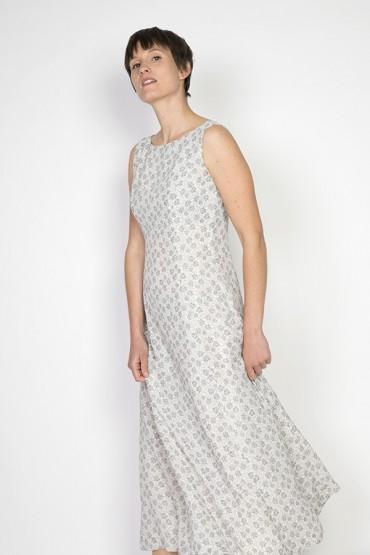 Vestido vintage blanco con...