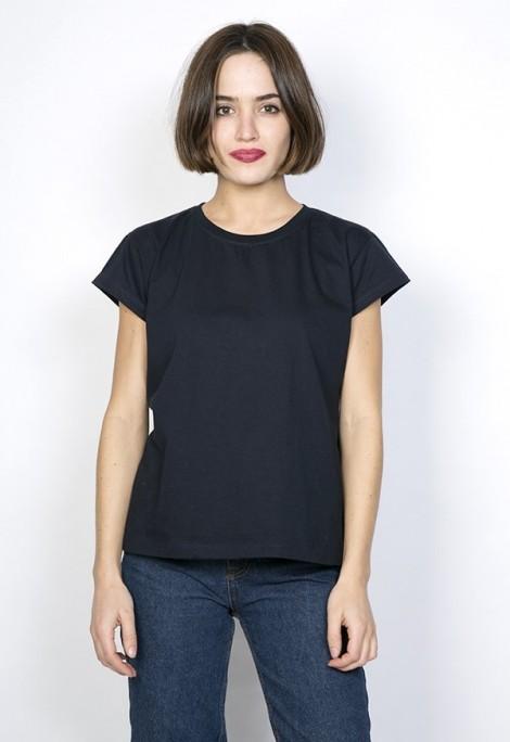 Camiseta básica SusiSweetdress azul marino