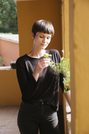 Camiseta SusiSweetdress negra manga larga