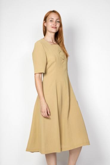 Vestido vintage crema