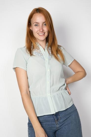 Camisa vintage azul claro