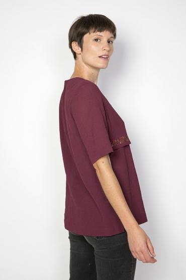 Camisa vintage bordeos