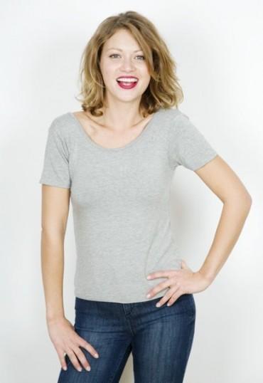 Camiseta básica SusiSweetdress gris