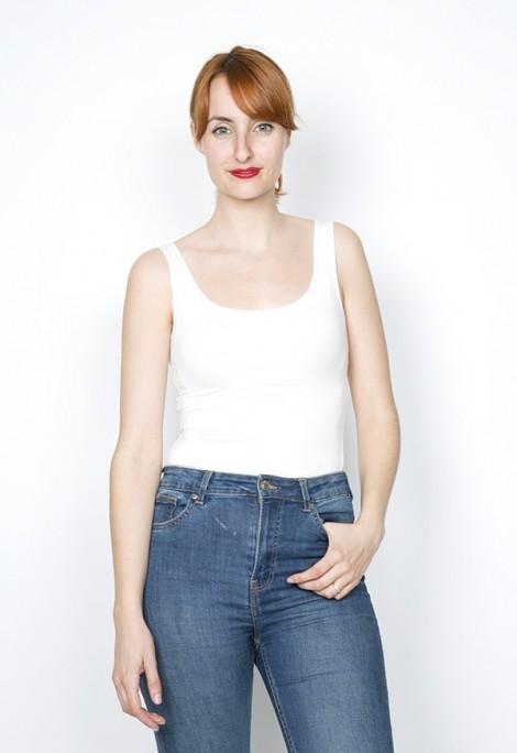 Camiseta básica SusiSweetdress blanca tirantes espalda redonda