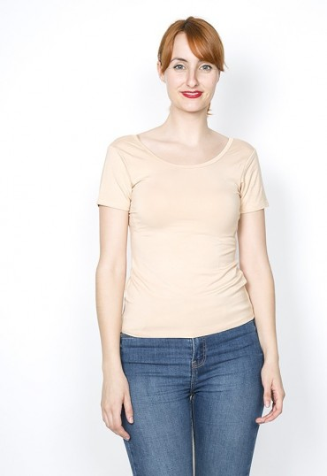 Camiseta básica SusiSweetdress beis