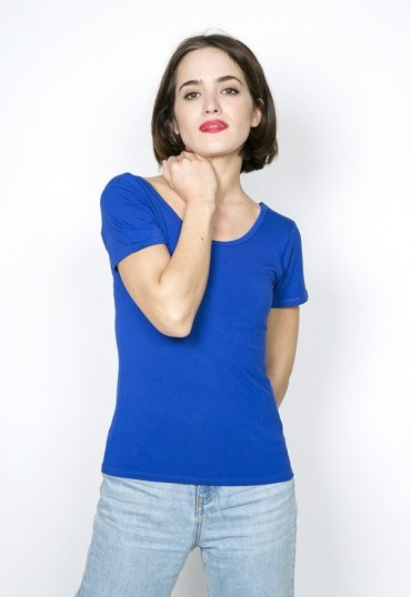 Camiseta básica SusiSweetdress azul eléctrico