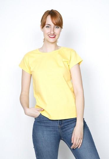 Camiseta básica SusiSweetdress amarilla