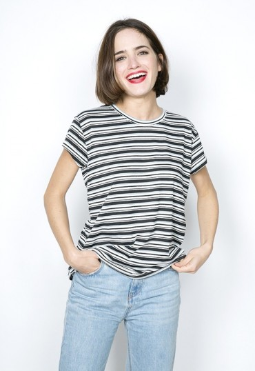 Camiseta SusiSweetdress blanca a rayas