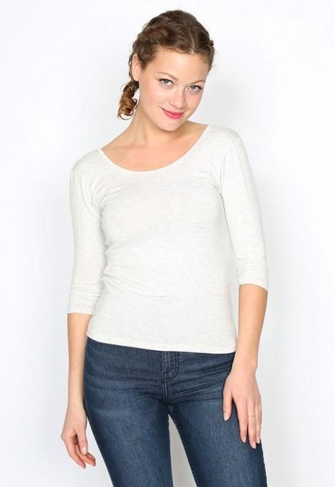Camiseta básica SusiSweetdress gris clara