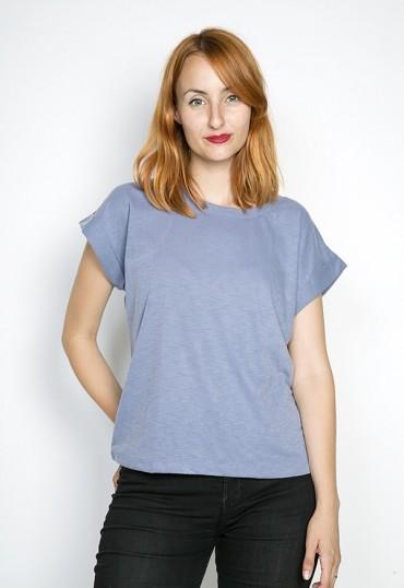 Camiseta SusiSweetdress azulón chispeado manga caída