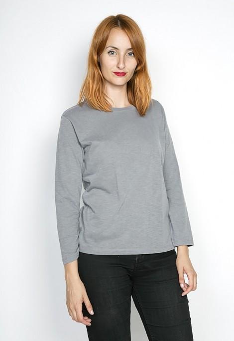 Camiseta SusiSweetdress gris chispeado manga larga