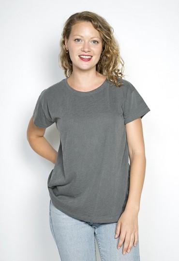Camiseta básica SusiSweetdress gris oscuro manga corta