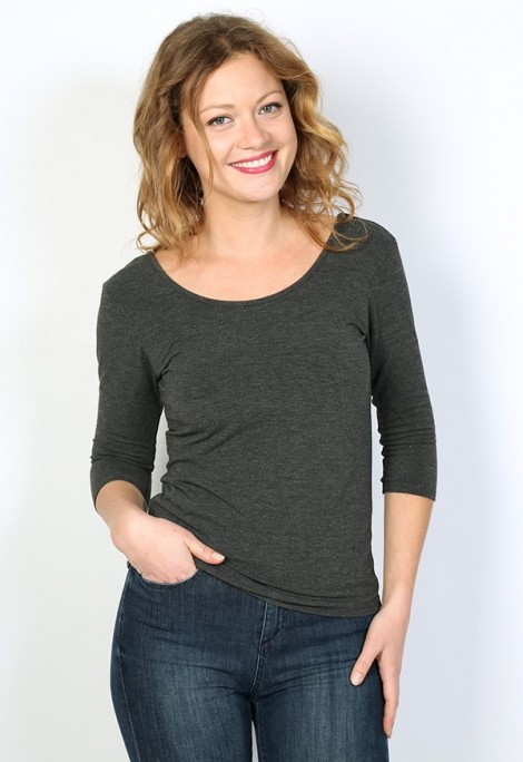 Camiseta básica SusiSweetdress gris oscura