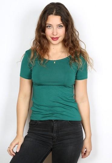 Camiseta básica SusiSweetdress verde bosque