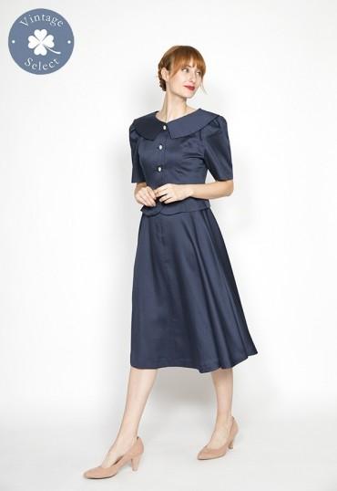 Vestido vintage Select azul marino