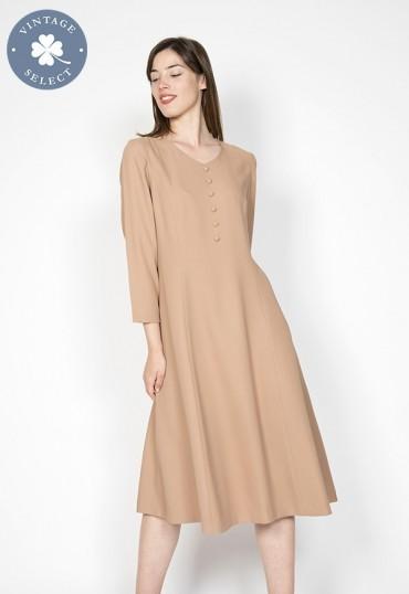 Vestido vintage Select beige