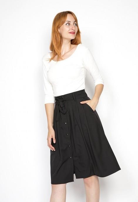 Falda midi negra Collection
