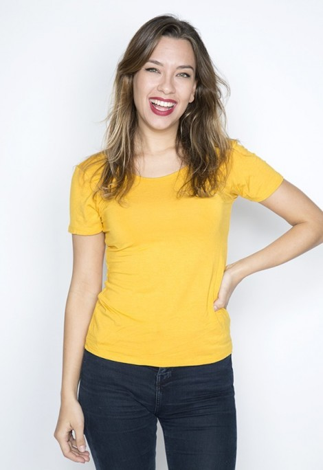 Camiseta básica SusiSweetdress amarillo