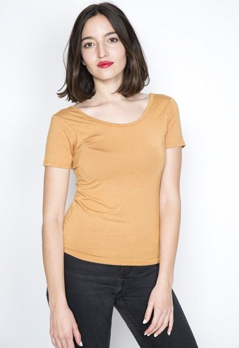 Camiseta básica SusiSweetdress mostaza
