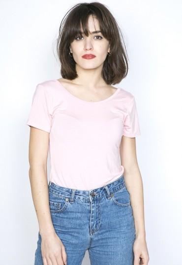 Camiseta básica SusiSweetdress rosa pastel