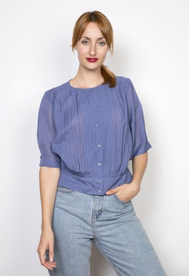 Camisa vintage lila pastel