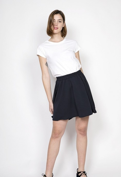 Falda mini azul marino casi negro