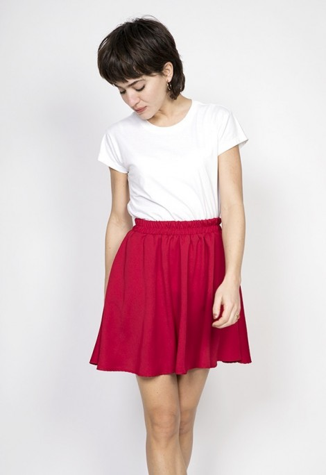 Falda mini rojo intenso