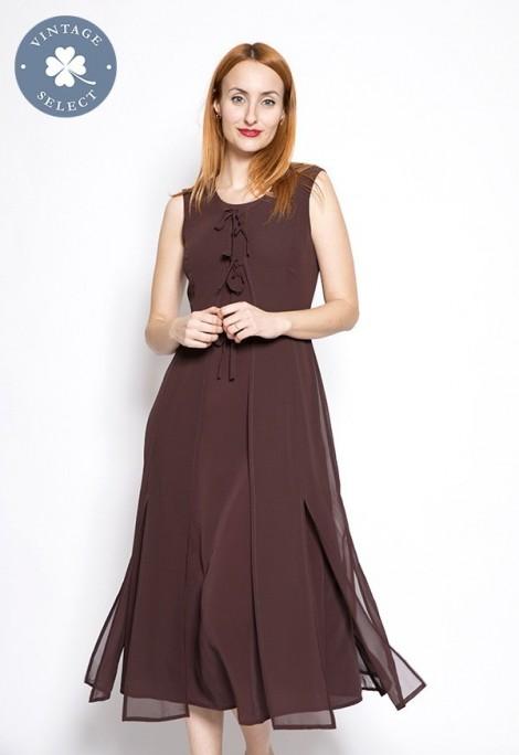 Vestido vintage Select marrón