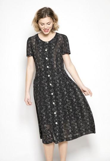 Vestido Vintage negro con...