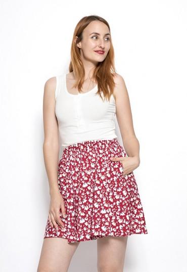 Falda mini roja con...