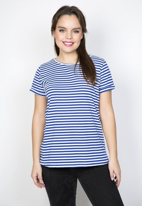 Camiseta SusiSweetdress con rayas blancas y azules
