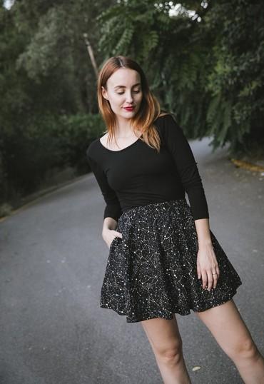 Falda mini negro...
