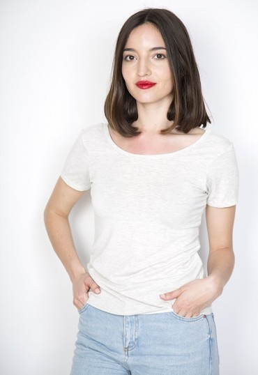 Camiseta básica SusiSweetdress gris claro