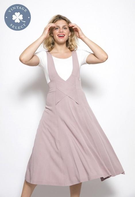 Vestido vintage Select rosa pastel
