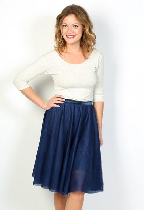 Falda tul azul marino
