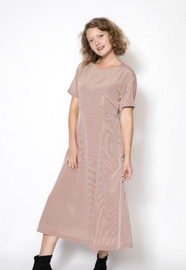 Vestido vintage con rayas...