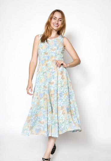 Vestido vintage con flores pastel