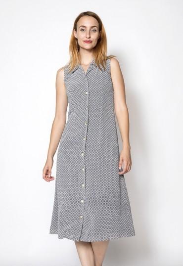 Vestido vintage con redonditas blancas