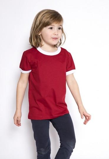 Camiseta roja borde blanco