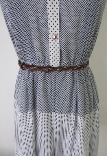Cinturón de piel trenzado tonos lilas