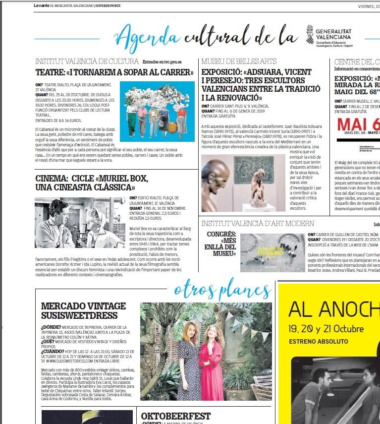 Agenda Cultural- Diario Levante