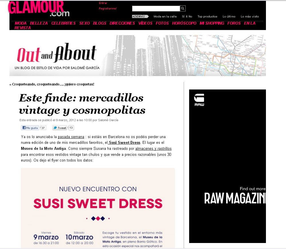 Out and About, Revista Glamour
